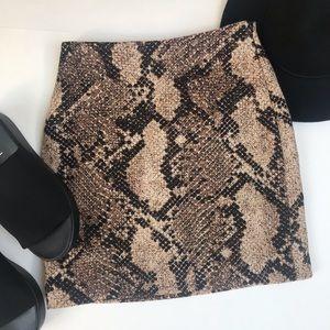 H&M Snakeskin Skirt
